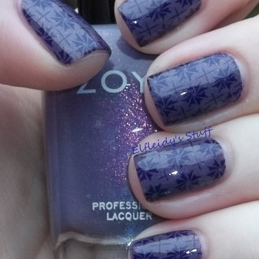 Violet nails nail art by Jenette Maitland-Tomblin