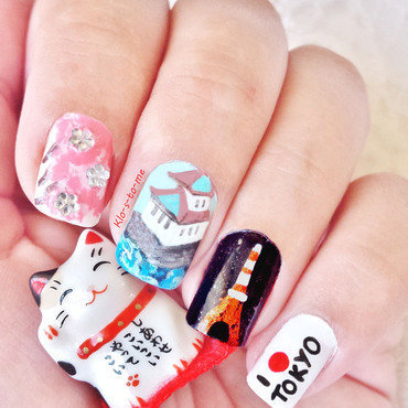 I love Tokyo <3 nail art by klo-s-to-me