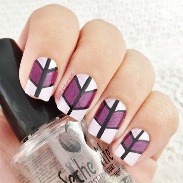 Shades of Purple nail art by klo-s-to-me