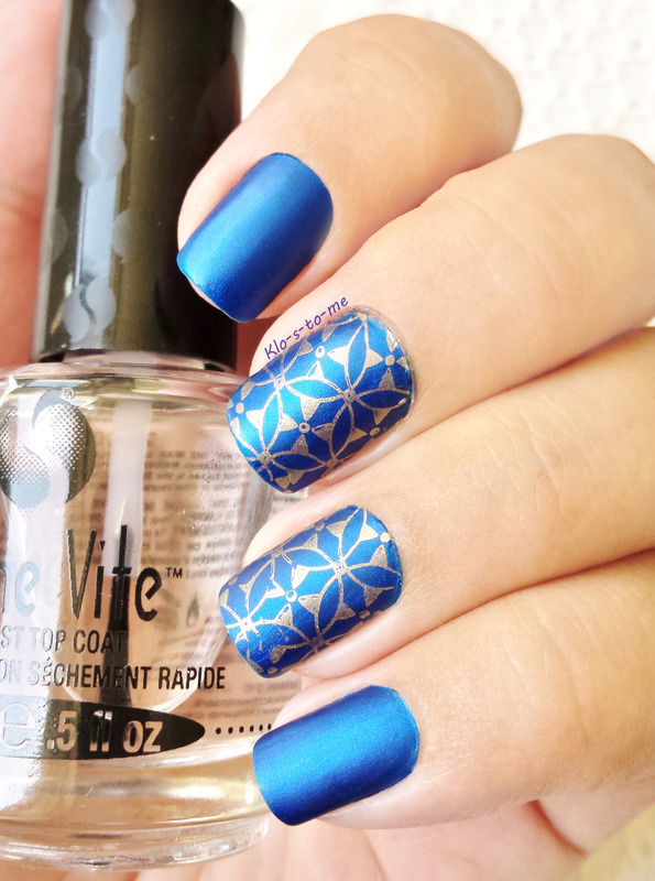 Royal Blue Matt nail art by klo-s-to-me