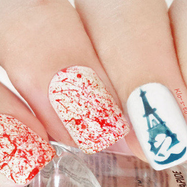 Assassin's Creed Unity nail art by klo-s-to-me
