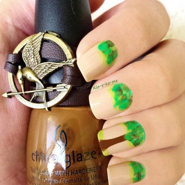 The Hunger Games Challenge  District 7 : Lumber nail art by klo-s-to-me
