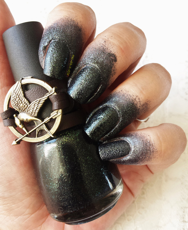 The Hunger Games Challenge District 12 Mining Nail Art By Klo S To