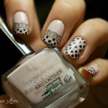 Lace and dots nail art by PaznokcioweLovee