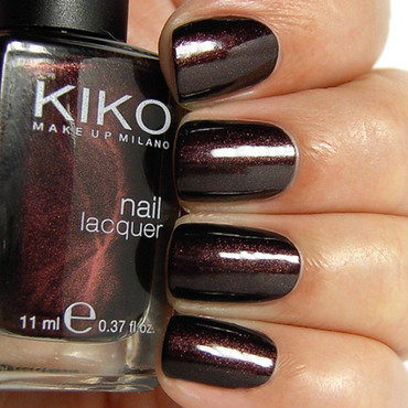 Kiko Pearly Chocolate Noir Swatch by nihrida