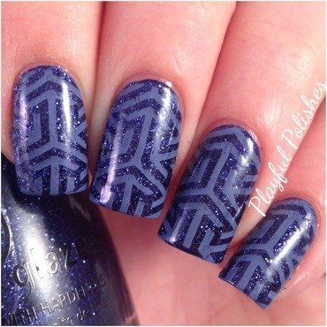 Geometric Nail Art nail art by Playful Polishes