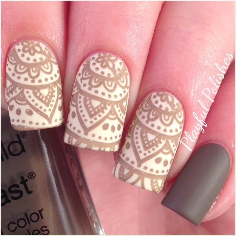 Nail Art Henna: Henna Nails Nail Art By Playful Polishes