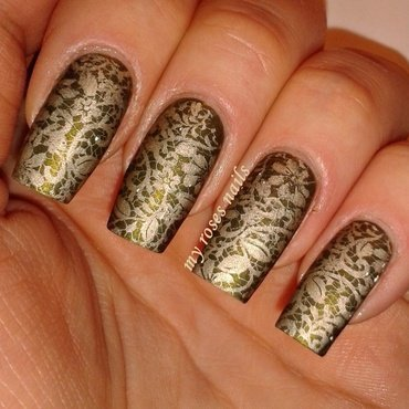 Lace nail art by Ewa
