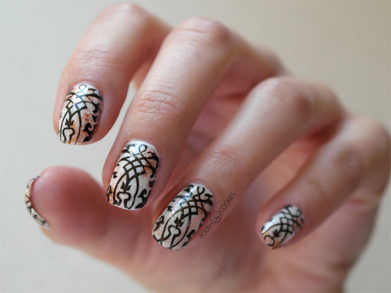 Rusty Ornaments nail art by PolishCookie