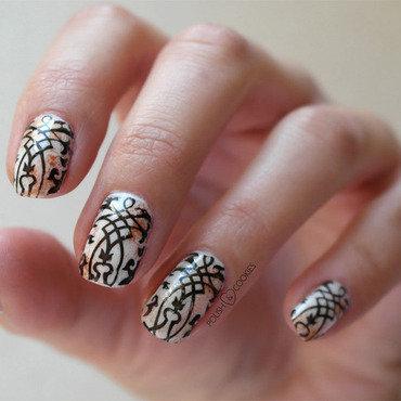 Rusty Ornaments nail art by PolishCookie