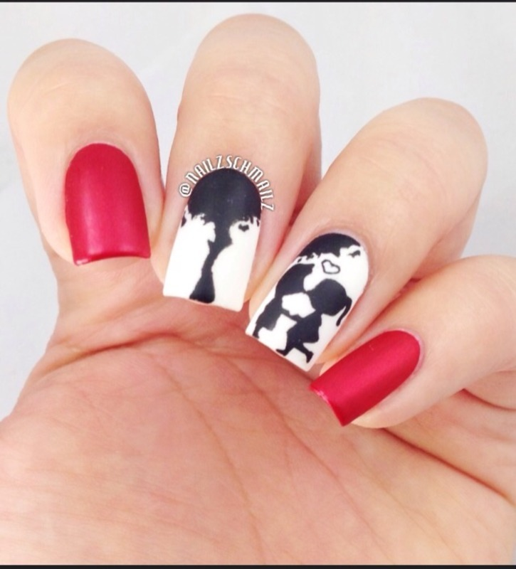 Puppy Love nail art by Eterna Santos - Nailpolis: Museum of Nail Art