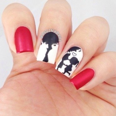 Puppy Love nail art by Eterna Santos