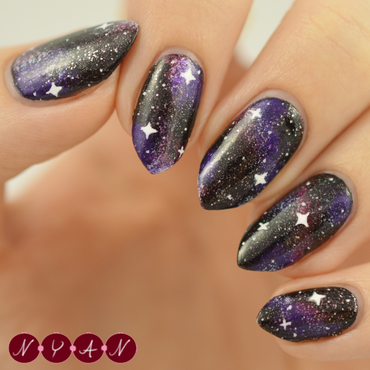 I Need Some Space nail art by Becca (nyanails)