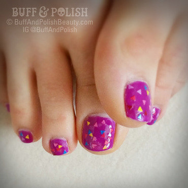 Pythagorean Purple Iced Donut Nails nail art by Buff & Polish