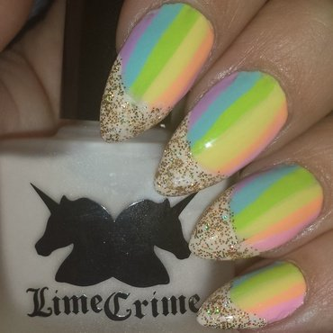 Gold at the Rainbow nail art by funatyourfingertips
