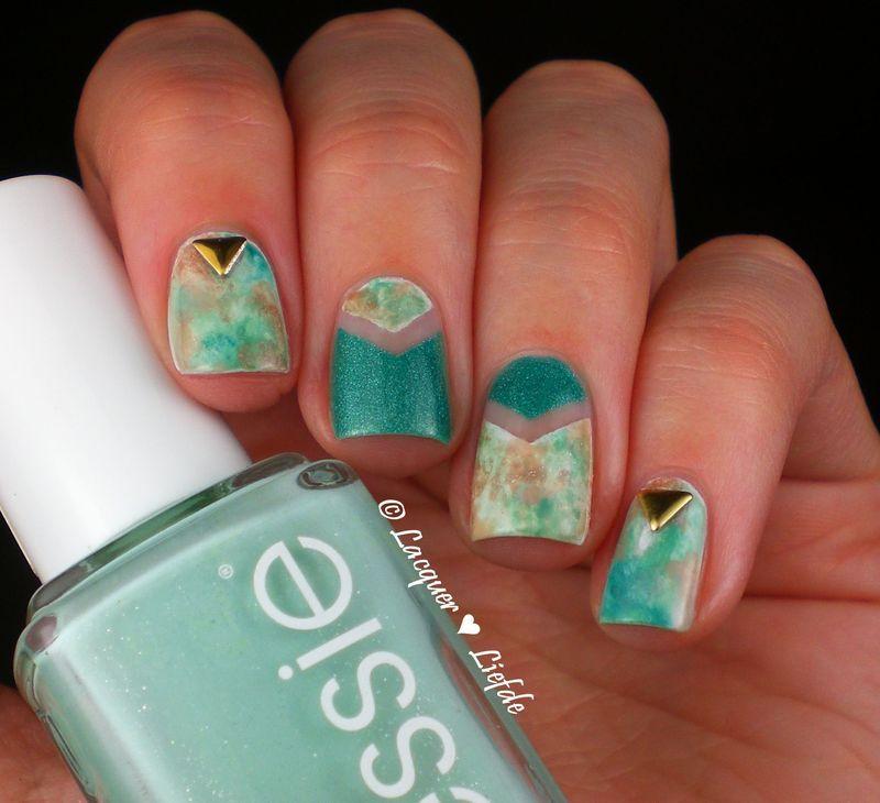 Watercolor Nails nail art by Anna