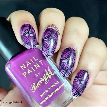 Purple Love  nail art by CrazyPolishes (Dimpal)