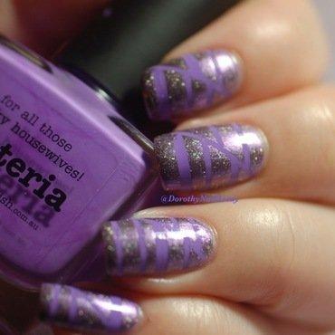 sois polish inspired purple mani nail art by Dorothy NailAssay