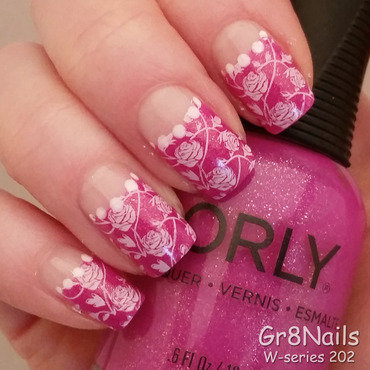 White Roses  nail art by Gr8Nails