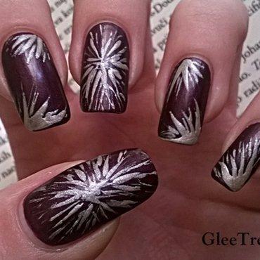 Fireworks nail art by Mila