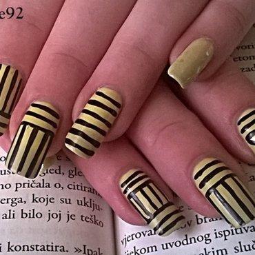 Stripes nail art by Mila