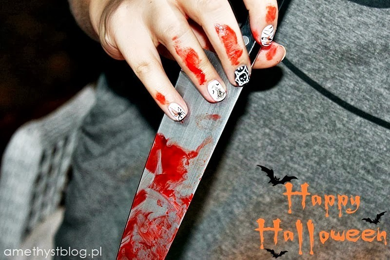 Halloween nail art nail art by Amethyst