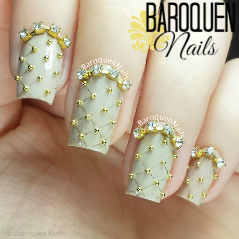 Allure II nail art by BaroquenNails