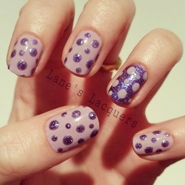 Barry m glitterati fashion icon purple dotticure nail art thumb370f