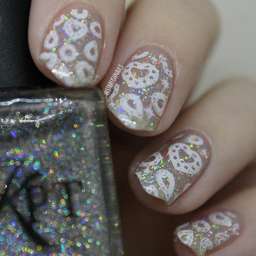 Jewels nail art by Lisa Yabsley