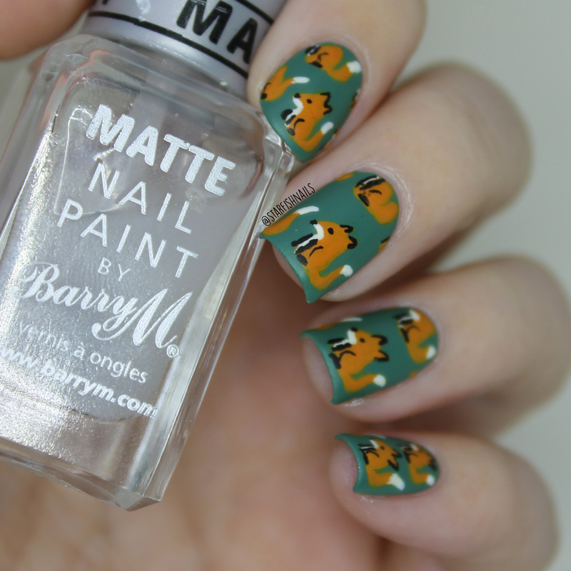 Foxy nails nail art by Lisa Yabsley