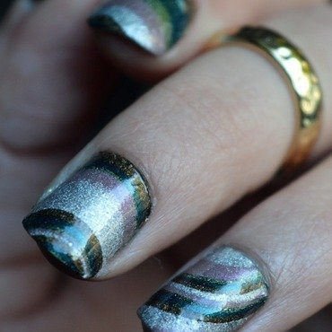 Dry Marble  nail art by And'gel ongulaire