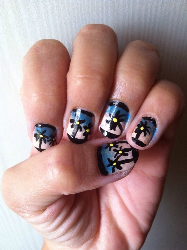 Beach nail art nail art by Ruchi