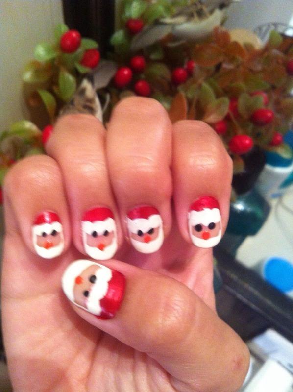 Christmas nail art by Ruchi