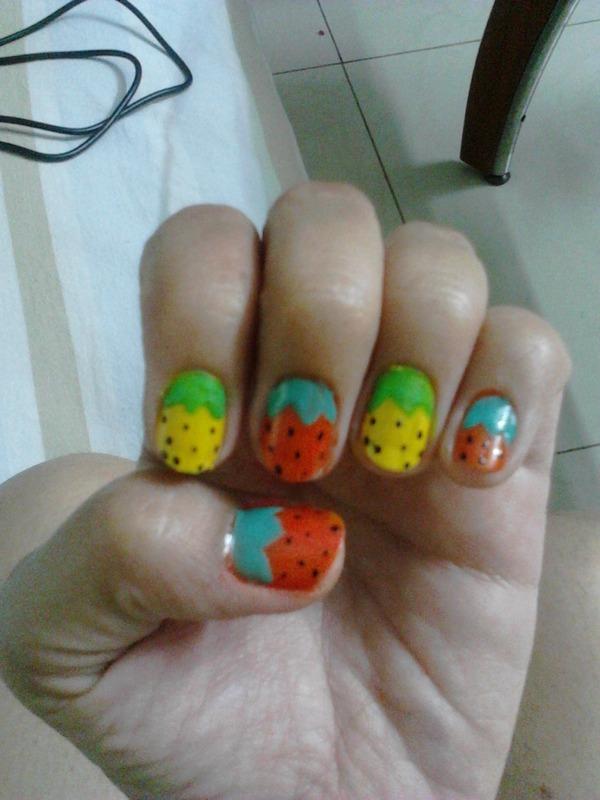 Cherry nail art by Ruchi