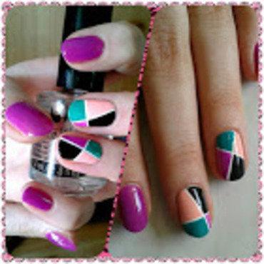 Mosaic nail art by ELIZA OK-W