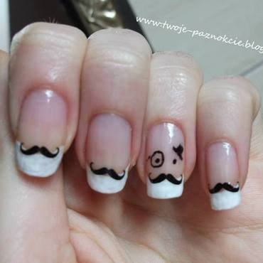 Keep calm and wear a mustache! nail art by Dominika Boruta
