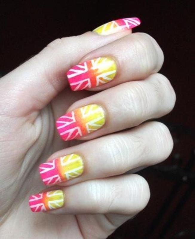 the Union Jack nail art by Dominika Boruta