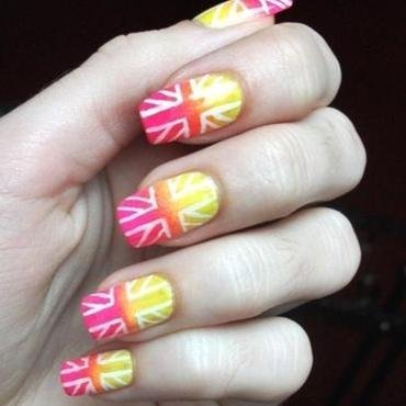the Union Jack nail art by Dominika Boruta