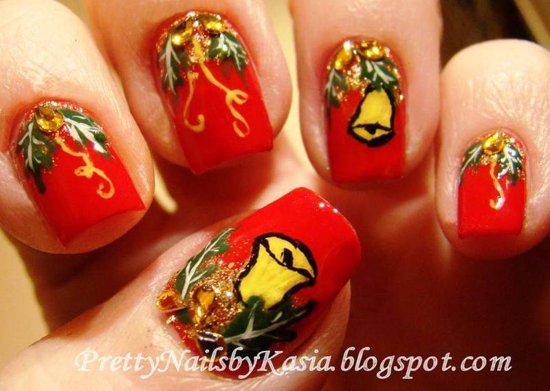 Jingle Bells nail art by Pretty Nails by Kasia