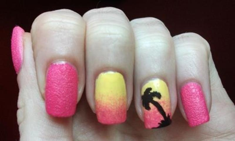 Beach party nail art by Dominika Boruta