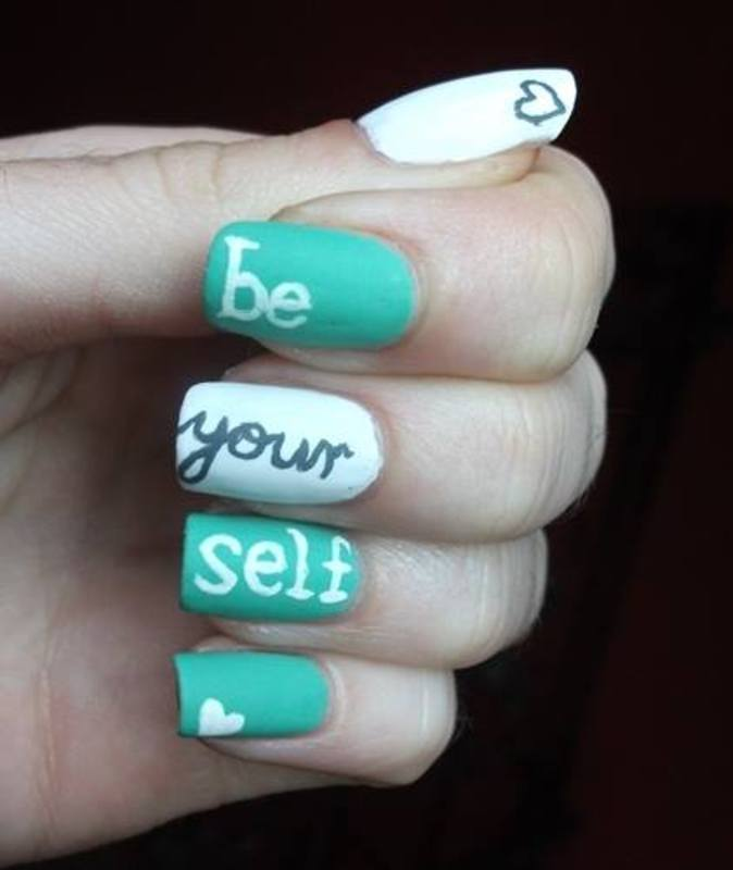 Be yourself nail art by Dominika Boruta