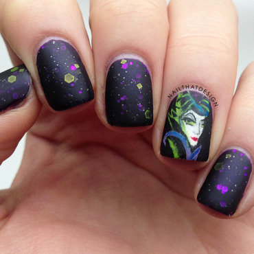Maleficent Nails  nail art by NailThatDesign