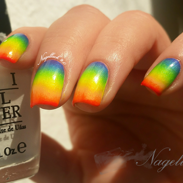 Rainbow inspred gradient :) nail art by Arlett