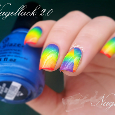 Rainbow inspred gradients :) nail art by Arlett