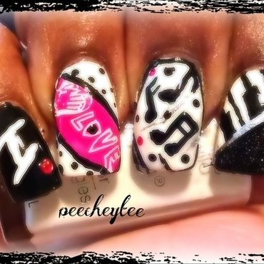 music nailart nail art by peecheytee