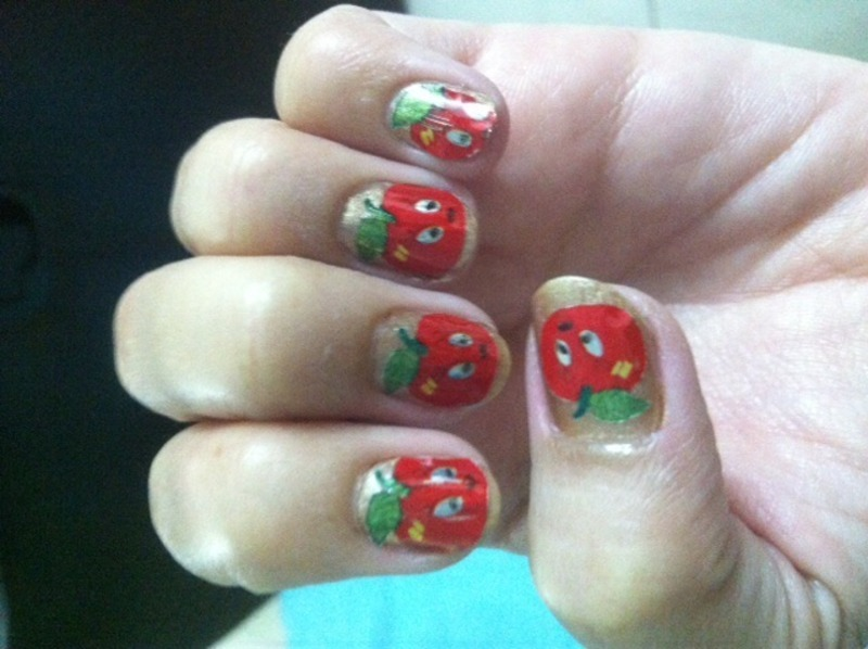 Apple nail art by Ruchi