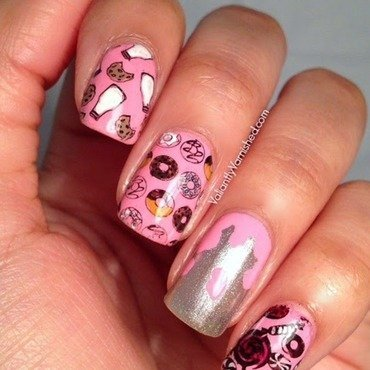 "Seven Deadly Sins ""Gluttony"" Nail Art nail art by Valiantly Varnished"