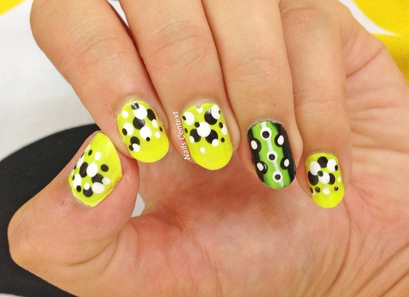Neon Love nail art by NailsContext