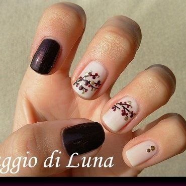 Branch skittlette nail art by Tanja
