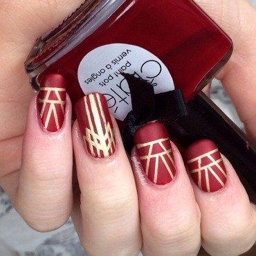 Gatsby nail art by allwaspolished
